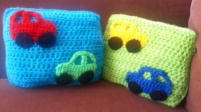 Colourful Mini Cars Cushions